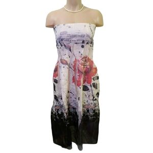 Lapis Women Ivory floral Casual  Dress One Size
